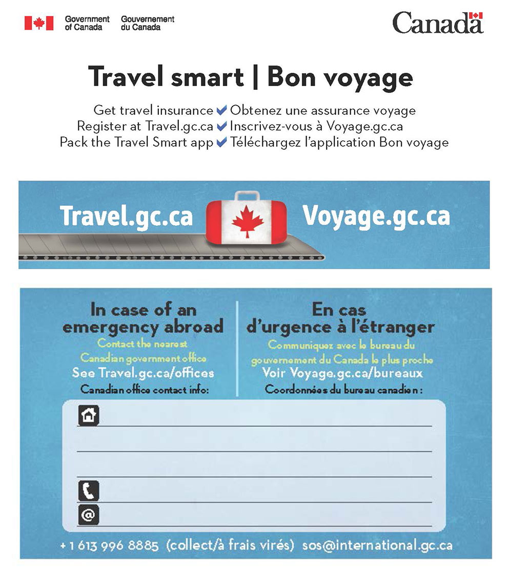 Government Of Canada Safe Travel Planner