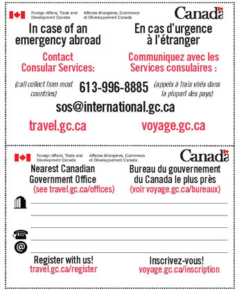 how to get emergency travel document in canada