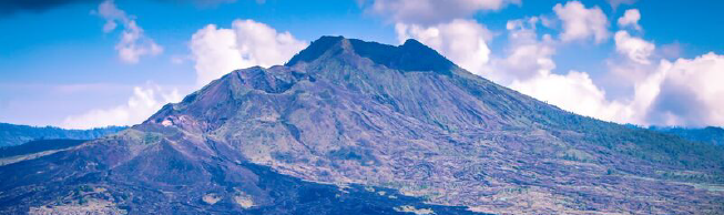 Volcano Agung on the island of Bali, Indonesia