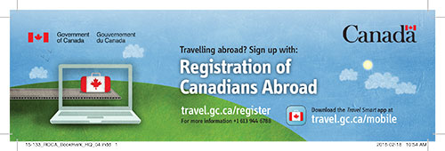 Registration of Canadians Abroad: Bookmark